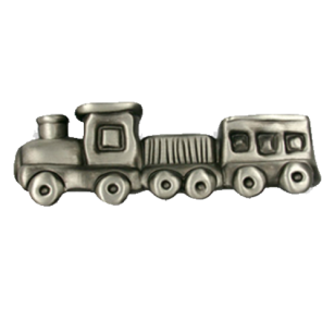Kids Train Cabinet Knob in Antique Iron Brushed finish frome Siro