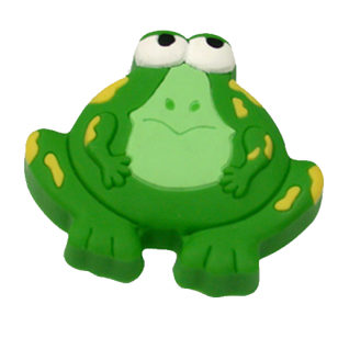 Kids Cabinet Frog Shaped Rubber Flex Knob in Green Color From Misr