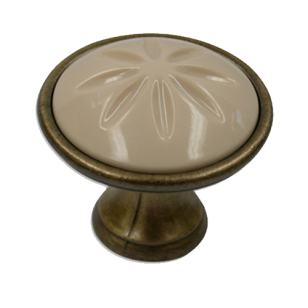 Beige Ceramic Antique Knob