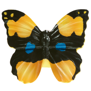 Kids Butterfly Cabinet Knob in Multicolor from Siro
