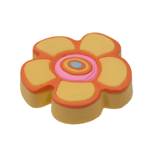 Beautiful Yellow Flower Cabinet Knob