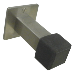 Square Door Buffer - Stainless Steel Finish