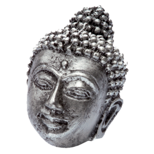 Impala Buddha Cabinet Knob in Antique Silver Finish from Siro