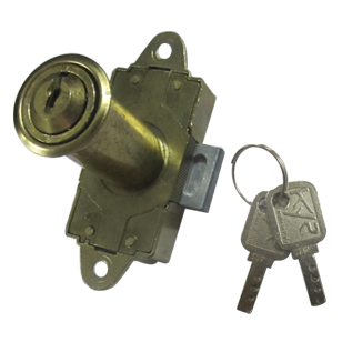 Rotating Bar Lock with Dimple Key - Gold Finish - 38mm