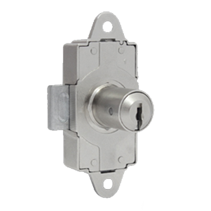 Rotating Bar Lock with Dimple Key - Satin Nickel Finish