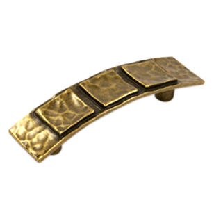 STACCARO Cabinet Handle - 93mm - Antique Brass Finish