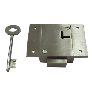 Cupboard Lock Double Turn Heavy - Stainless Steel Finish