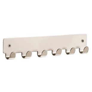 Hook Rail - 240mm -  Matt Nickel Finish