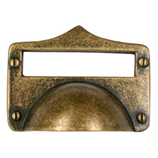 Cabinet Pull - 83mm -  Antique Brass Finish