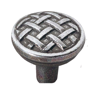 Lan Smith Series Cabinet Knob - 34mm - Antique Silver Finish