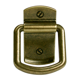 Italian Line Cabinet Pull  - 44mm -  Antique Brass Trumbled Finish