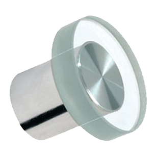 Cabinet Glass Knob - Dia 34mm - Bright Chrome