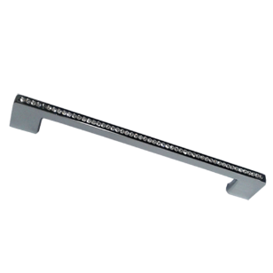 Cabinet Handle Medium in Stainless Steel with Crystal Finish