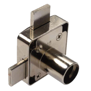 Double Drawer Lock Housing (Right) - Nickel Plated Finish