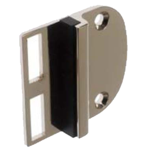 Striking Plate for Glass Door Lock - Nickel plated Finish