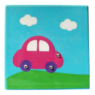 Kids Car Decorative - Light Blue Colour with Strass Stone