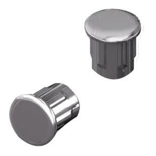 Cover Cap NIKO - 5mm - Iron Nickel Plated Finish