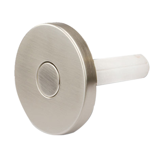 Push Round Hook - Matt Brushed Nickel Finish