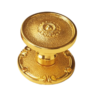 Nantes Door Knob on Rose - Polished Silver/Old Gold Finish