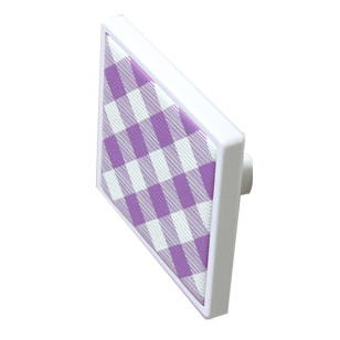 Purple and White Chequered Cabinet Knob