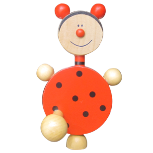 Ladybug Hook - 1 Peg - Wood - Multicolour Finish