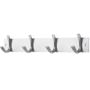 Symphony Arch Hook Rail - 4 Peg - Stainless Steel Finish