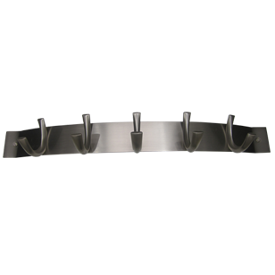 Symphony Arch Hook Rail - 5 Peg - Stainless Steel Finish