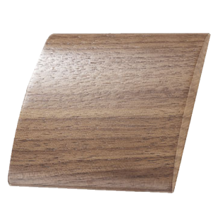 WAVE Wood Cabinet Knob - Walnut clear lacquered