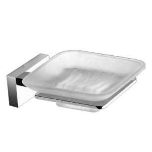 SD Soap Dish - Polished Chrome Finish