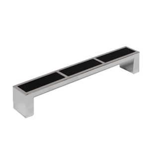 Cabinet Handle - 136mm - Black & Bright Chrome Finish