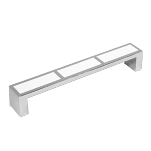 Cabinet Handle - 136mm - White & Bright Chrome Finish