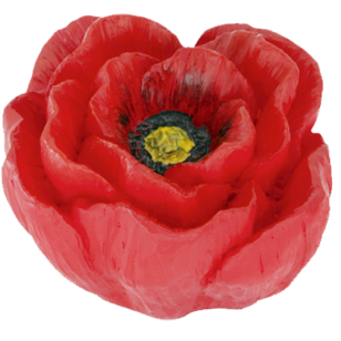 Poppy Flower Kids Knob