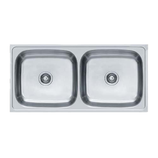 Kitchen Sink - European Satin Finish - 40x20Inch/1004x504mm