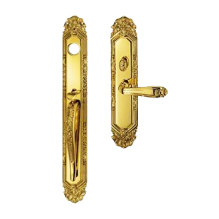 Miami American Entrance Set - Polished Silver/Old Gold Finish