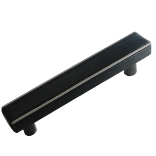 Cabinet Leather Handles -150mm - Black Leather