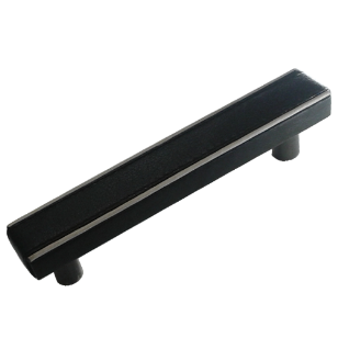 Cabinet Leather Handles -300mm - Black Leather