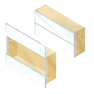 Vertical Sliding System With Two Equal Aligned Doors
