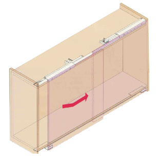 Sliding System For Containers with Two Aligned Doors