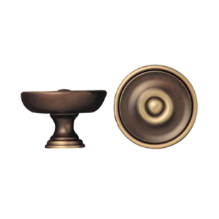 Door Knob - 75mm - Antique Bronze Finish