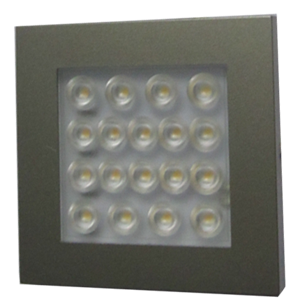 LED Spotlights Surface Mounted EQ - LED - 1.2W  -  Stainless Steel & Cool White Finish