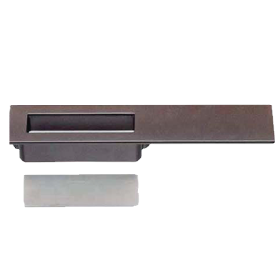 Flush Cabinet Handle - 96mm - Graphite Finish