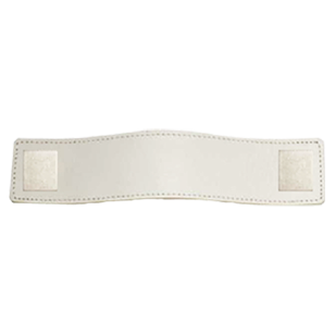 Cabinet Leather Handle - 128mm - Brass / White Leather