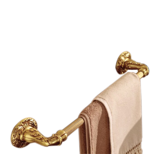 Calliope Towel Bar - 450mm - Old Gold Finish