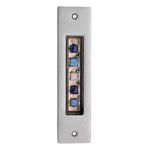 BRERA 05 - Door Flush Handle - Polished Chrome Finish