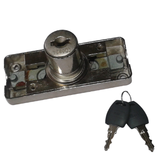 Bar Lock with Up & Down - 20mm - Nickel Plated Finish