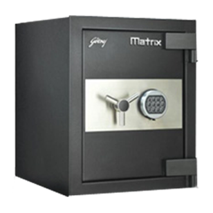 MATRIX I-Warn - Electronic Safe - Dimensions (H x W x D) - 588 x486 x546mm - Black Colour