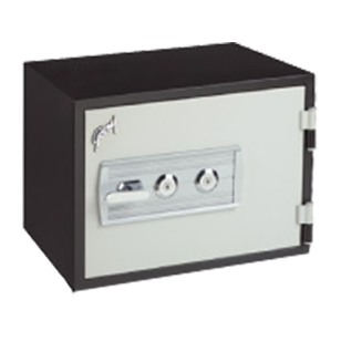 SAFIRE MECHANICAL - 30L (Horizontal) - Contemporary Fire Resistant Safe - Dimensions (H x W x D) - 385x507x491mm - Grey Colour