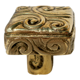 Cabinet Knob in Castellan Gold Finish