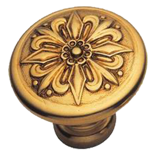 Cabinet Knob - 42mm - Old Gold Finish