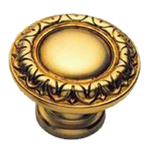 Cabinet Knob - 30mm - Old Gold Finish